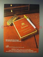 1978 Dunhill Cigarette Ad - Internationally Acknowledged