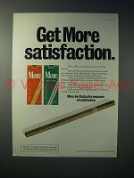 1979 More Cigarette Ad - Get More Satisfaction