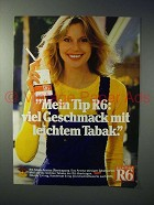 1979 Reemtsma R6 Cigarette Ad - in German - Liechtem Tabak