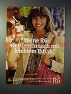 1979 Reemtsma R6 Cigarette Ad - in German - Meine R6
