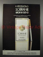 1982 Sobranie Virginia Blend Cigarette Ad
