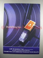1984 Dunhill King Size Cigarette Ad