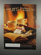 2001 Basic Cigarette Ad - The Best Things in Life