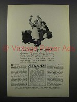 1925 Aetna Life Insurance Ad - Put 'Em Up Quick