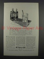1925 Aetna Insurance Ad - Accident Casts its Shadow