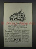 1926 Aetna Insurance Ad - Dangers You Have Overlooked