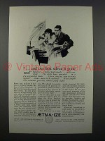 1926 Aetna Insurance Ad - Our Best Silver is Gone Too
