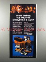 1973 Pioneer Hi-Fi Equipment Ad - Blood, Sweat & Tears