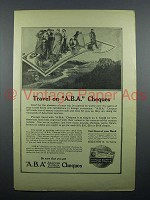 1914 ABA Travelers Cheques Ad - Travel on A.B.A.