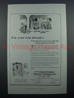 1922 Equitable Trust Company Bank Ad - Trip Abroad