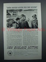 1935 New England Mutual Insurance Ad - Driving South
