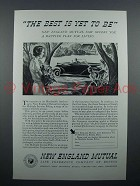 1935 New England Mutual Insurance Ad - Best Yet to Be