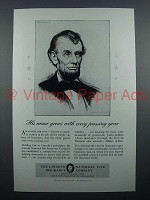1940 Lincoln National Life Insurance Ad - Name Grows