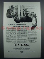 1944 USF&G Insurance Ad - Helps Keep Employees