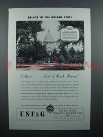 1946 USF&G Insurance Ad - Golden State, California