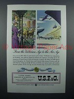 1946 USF&G Insurance Ad - Victorian Age to Air Age