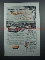 1953 America Fore Insurance Ad - Every Town