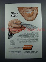 1954 America Fore Insurance Ad - With a Smile
