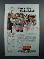 1954 America Fore Insurance Ad - Fellow Needs Friend