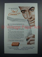 1955 America Fore Insurance Ad - Am I Covered?