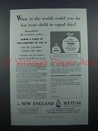 1955 New England Mutual Insurance Ad - Your Child