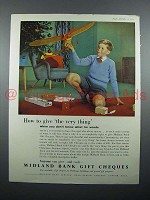 1957 Midland Bank Gift Cheques Ad - The Very Thing