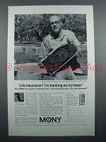 1963 Mony Insurance Ad - Banking on My Bees