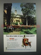 1968 USF&G Insurance Ad - Wren Building, William & Mary