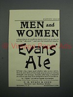 1908 Evans Ale Ad - Men and Women