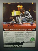 1977 Lloyds Bank Ad - The Way You Live Now