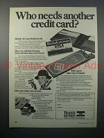 1979 VISA British Airways Credit Card Ad - Who Needs?