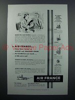 1952 Air France Ad - Bound for a Holiday