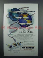 1953 Air France Ad - World's Most Modern Air Fleet