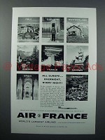 1958 Air France Ad - Overnight, Every Night