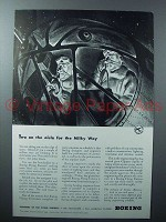 1942 Boeing Flying Fortress Plane Ad - Milky Way