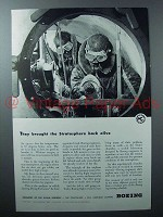 1942 Boeing Plane Ad - Brought Stratosphere Alive