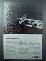 1942 Boeing Pan American Clipper Plane Ad - Daily