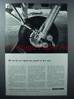 1942 Boeing Flying Fortress Plane Ad - Landing Gear
