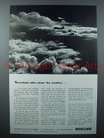 1943 Boeing Stratoliner Plane Ad - About the Weather