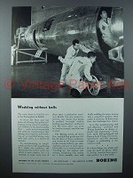 1943 Boeing Flying Fortress Plane Ad - Without Bells