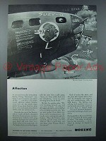 1943 WWII Boeing Flying Fortress Plane Ad - Affection