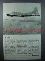 1943 Boeing Flying Fortress Plane Ad - No Achilles Heel