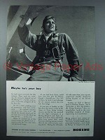 1943 Boing PT-17 Kaydet Plane Ad - Your Boy