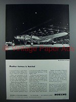 1943 Boeing Flying Fortress Plane Ad - Is Hatched