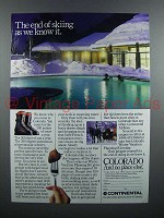1986 Continental Airlines Ad - Colorado - End of Skiing