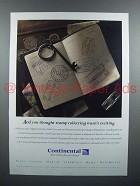 1996 Continental Airlines Ad - Stamp Collecting