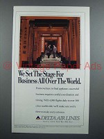 1991 Delta Airlines Ad - We Set The Stage for Business