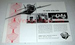 1955 Grumman Aircraft Ad - Jet Fighter Writes Home