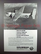 1965 Grumman C-2A Aircraft Ad - Loads to Carriers