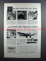 1939 Lockheed Aircraft Ad - Over Bali and the Timor Sea